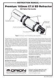 Orion 102ED Instruction Manual