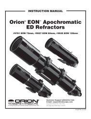 orion® Eon™ apochromatic ED refractors