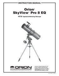 orion® skyView™ Pro 8 EQ