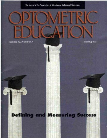 Spring 2007, Volume 32, Number 3 - Association of Schools and ...