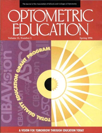 Spring 1996, Volume 21, Number 3 - Association of Schools and ...