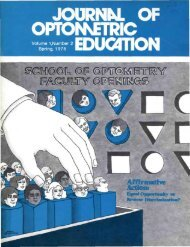 Affirmative Action - Association of Schools and Colleges of Optometry