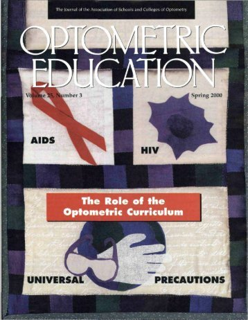 Spring 2000, Volume 25, Number 3 - Association of Schools and ...