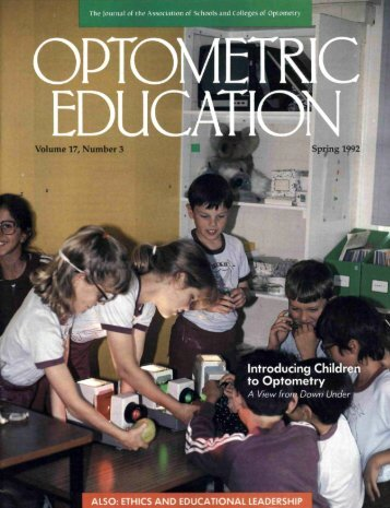 Spring 1992, Volume 17, Number 3 - Association of Schools and ...