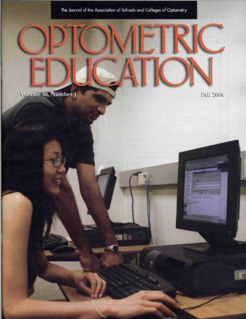 Fall 2004, Volume 30, Number 1 - Association of Schools and ...