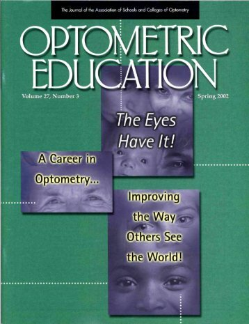 Spring 2002, Volume 27, Number 3 - Association of Schools and ...