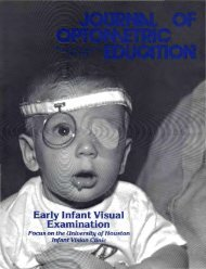 The Journal of Optometric Education - Association of Schools and ...