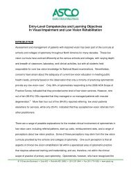 Entry-Level Competencies and Learning Objectives In Visual ...