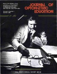 JOURNN. OF - Association of Schools and Colleges of Optometry