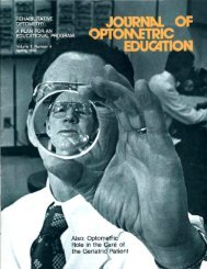 EDUGCTION - Association of Schools and Colleges of Optometry