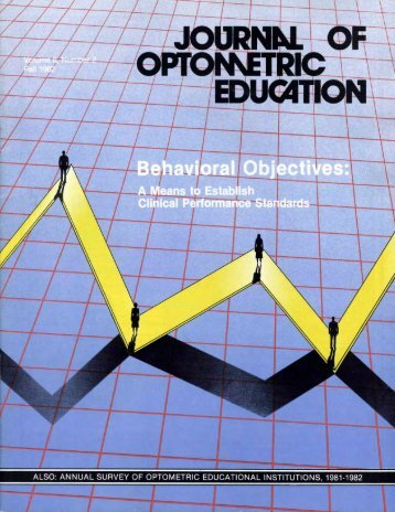 also: annual survey of optometric educational institutions, 1981-1982