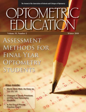Winter 2010, Volume 35, Number 2 - Association of Schools and ...