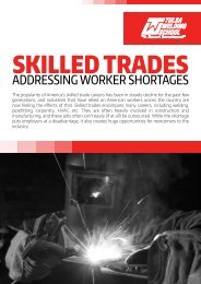 White Paper: Addressing Worker Shortages in the Skilled Trades