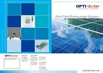 Grid-Tied Photovoltaic System - OPTI-Solar