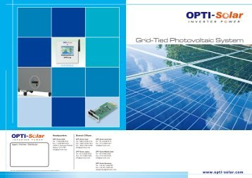 Grid-Tied Photovoltaic System - OPTI-Solar