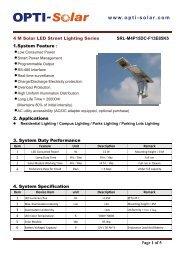 Download User Manual - OPTI-Solar