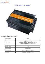 SC-30 MPPT User Manual - OPTI-Solar