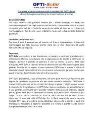 Download Global Warranty Policy (Italian) - OPTI-Solar