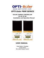 SC-60 Manual - OPTI-Solar