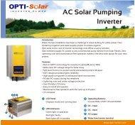 DM-Pump Inverter - OPTI-Solar