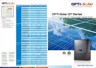 OPTI-Solar GT Series