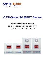 OPTI-Solar SC MPPT Series