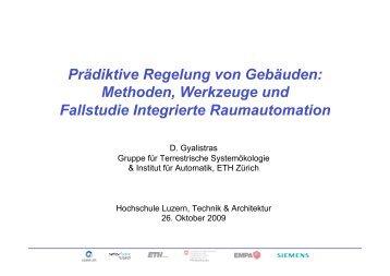 Prädiktive Regelung von Gebäuden - Climate-impacts.ch