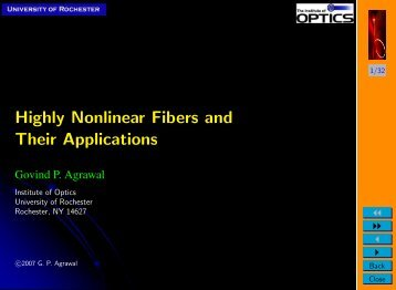 Highly Nonlinear Fibers and Applications - The Institute of Optics ...