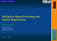 All-Optical Signal Processing and Optical Regeneration