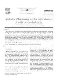 Applications of field-enhanced near-field optical microscopy
