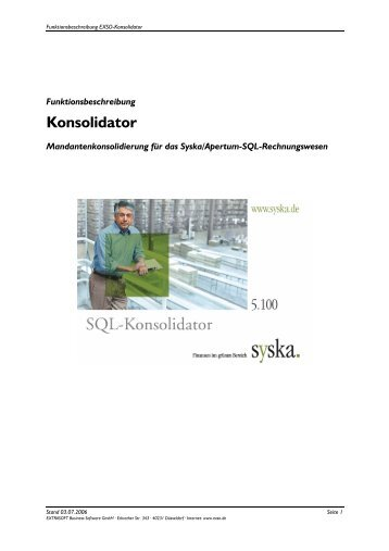 Konsolidator - EXSO. business solutions Gmbh
