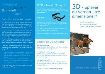3D - oplever du verden i tre dimensioner? - Danmarks Optikerforening