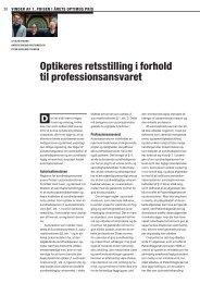 Optikeres retsstilling i forhold til professionsansvaret - Danmarks ...