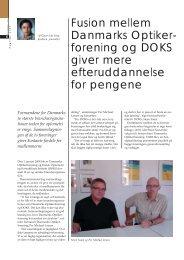 Fusion mellem Danmarks Optiker- forening og DOKS giver mere ...
