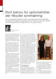 Stort behov for optikere der tilbyder synstræning - Danmarks ...