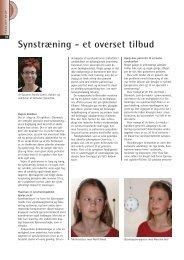 Synstræning - et overset tilbud - Danmarks Optikerforening