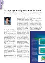 Mange nye muligheder med Ortho-K - Danmarks Optikerforening