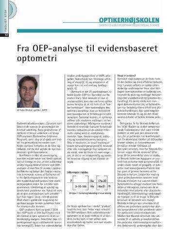 Fra OEP-analyse til evidensbaseret optometri - Danmarks ...