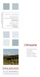 Flyer Einladung - Optimatik AG
