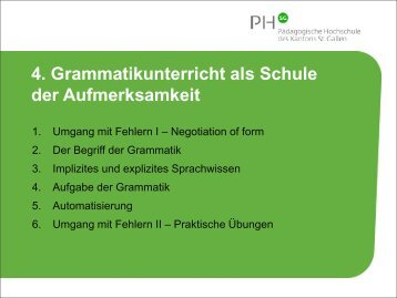 4. Grammatikunterricht als Schule der Aufmerksamkeit - Optimisme.ch