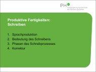 Produktive Fertigkeiten: Schreiben - Optimisme.ch