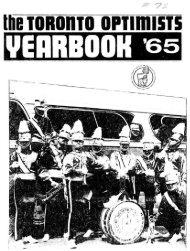 Toronto Optimists Yearbook for 1965 - Optimists Alumni Association