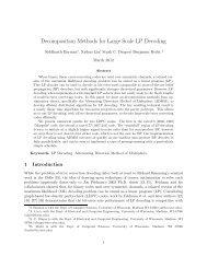 Decomposition Methods for Large Scale LP Decoding - Optimization ...