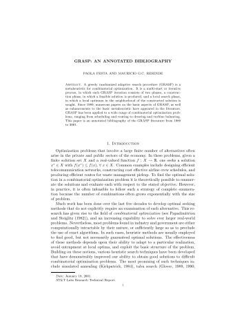 annotated bibliographies in combinatorial optimization On jun 1, 1998 j m wilson published: annotated bibliographies in combinatorial optimization.