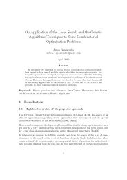 On Application of the Local Search and the Genetic Algorithms ...