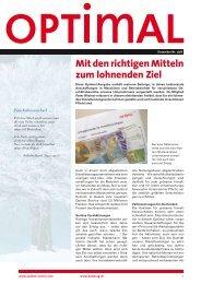 Ausgabe Nr. 2/08 - Optimo Service AG