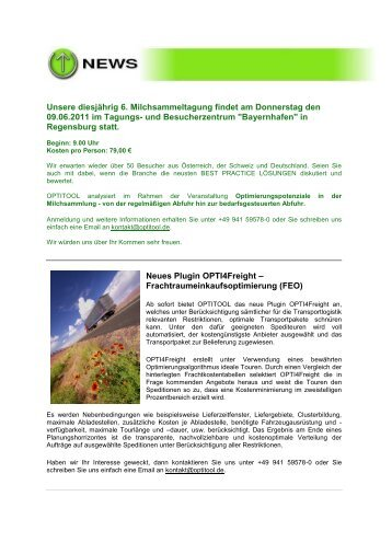 2011 Quartal 1 - Newsletter - Optitool GmbH
