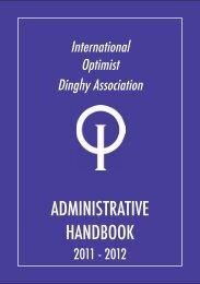 administrative handbook - International Optimist Dinghy Association