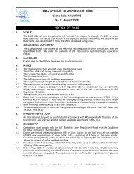 ioda african championship 2008 notice of race - International ...