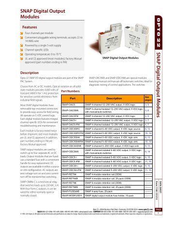 dma snap digital output data sheet opto 22
